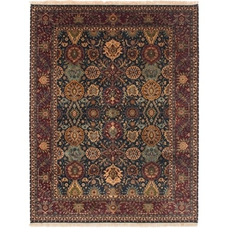ECARPETGALLERY  Hand-knotted Jamshidpour Dark Green Wool Rug - 8'9 x 11'5