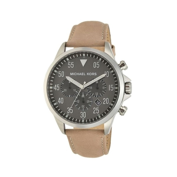 1431df88cf1d Shop Michael Kors Men s MK8616 Gage Stainless-Steel with Gray Dial ...