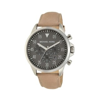 Michael Kors Men's MK8616 Gage Stainless-Steel with Gray Dial and Taupe Leather Watch