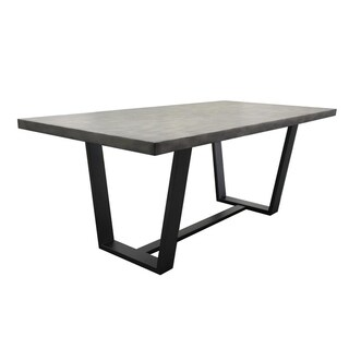 Best Master Furniture Concrete Rectangular Dining Table