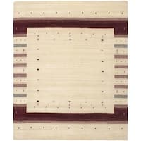 ECARPETGALLERY  Hand-knotted Kashkuli Gabbeh Cream Wool Rug - 8' x 10'