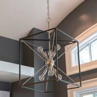 Sadler Silver/Black Sputnik 6-light Pendant Light