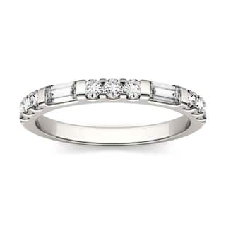 Moissanite by Charles & Colvard 14k Gold 0.5 DEW Baguette Stackable Band