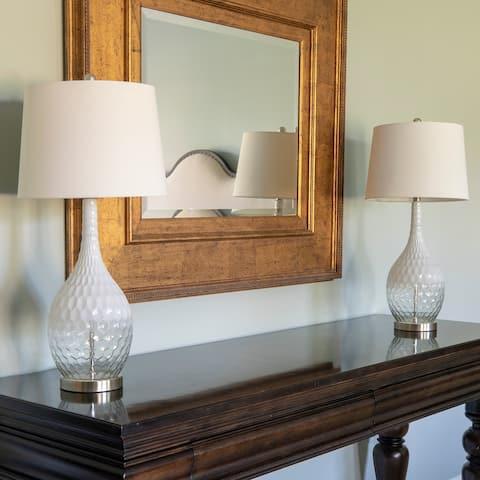 Set of 2 Fletcher Glass Genie Table Lamps