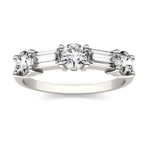 Moissanite by Charles & Colvard 14k Gold 1.15 DEW Stackable Band