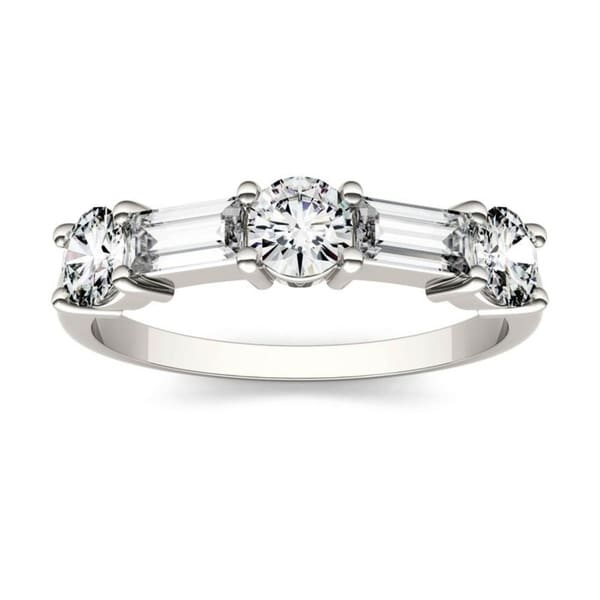 Moissanite by Charles & Colvard 14k Gold 1.15 DEW Stackable Band. Opens flyout.
