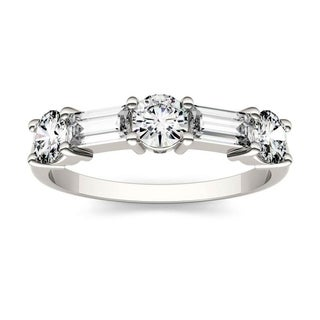 Moissanite by Charles & Colvard 14k White Gold 1.15 DEW Stackable Band