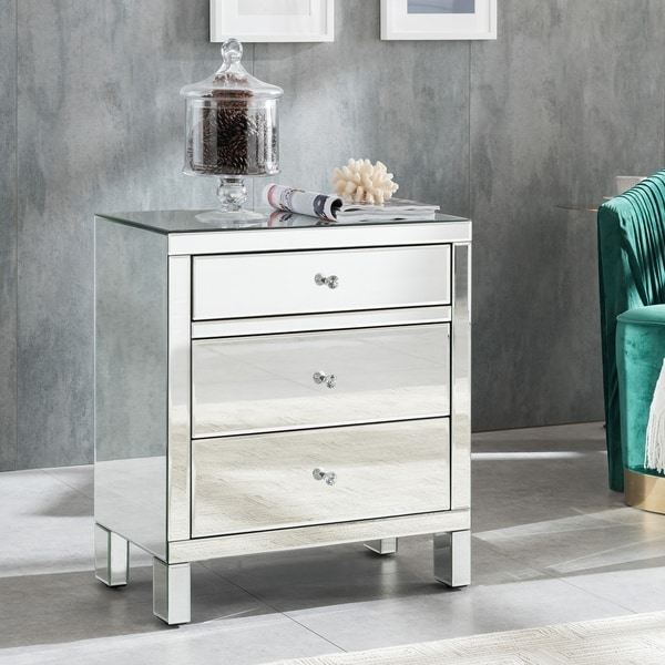 Silver Orchid Mailes Mirrored Accent Chest