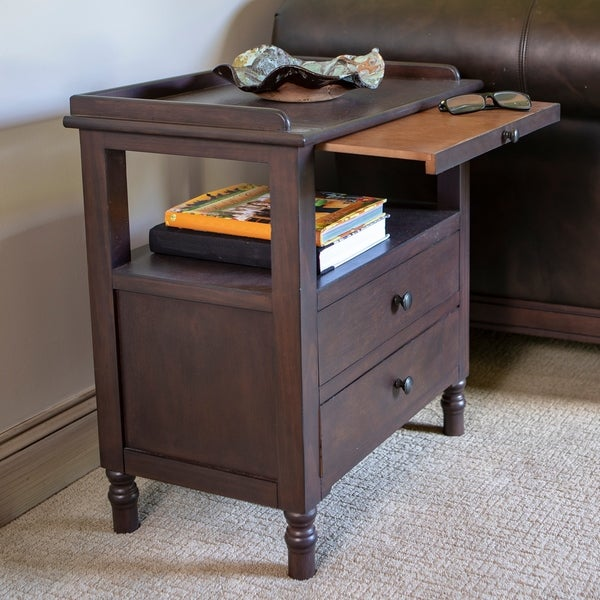 Timothy Side Table with Pull Out Tray