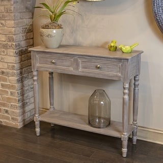 Simplify Brown Wood 2-drawer Console Table