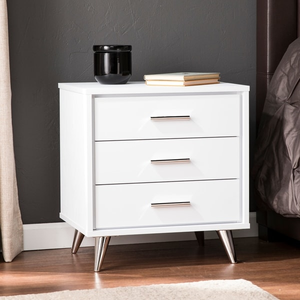 Carson Carrington Armoy Bedside Table with drawers. Opens flyout.