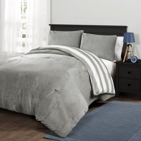 Lush Decor Plush Stripe Comforter Set