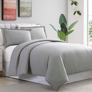 Amrapur Overseas Ultra-Plush 3-Piece Solid Duvet Set