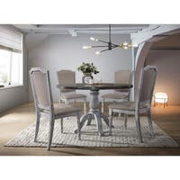 Best Master Furniture Rustic White 5 Pieces Dinette Set