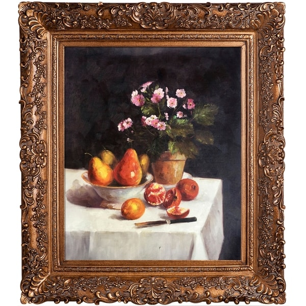 Henri Fantin-Latour 'Still Life, Primroses, Pears and Promenates, 1873' Hand Painted Oil Reproduction