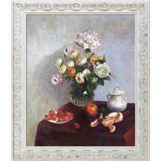 Henri Fantin-Latour 'Flowers and Fruit' Hand Painted Oil Reproduction