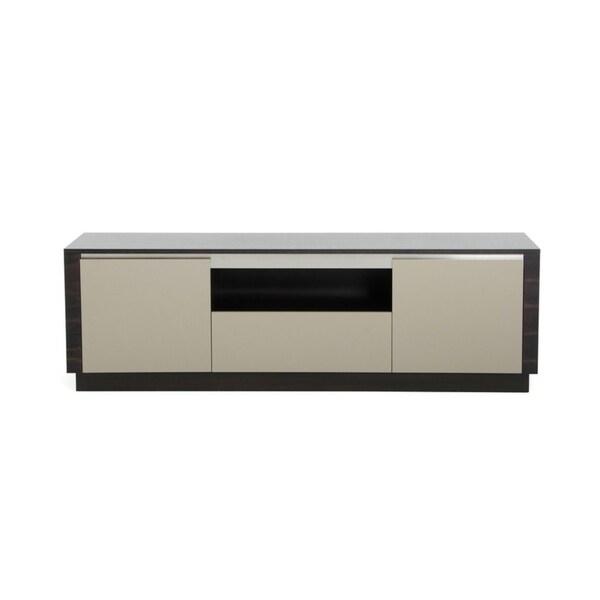 A&X Caligari Modern Oak & Grey Gloss TV Stand