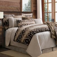 HiEnd Accents Chalet Aztec Oversized 3 Piece Comforter Set, Queen