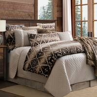 HiEnd Accents Chalet Aztec Oversized 3 Piece Comforter Set, King