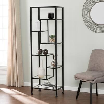Open Back Black 8 Bookshelves Bookcases Online At