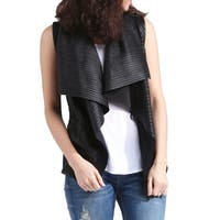 Genuine Lambskin Leather Waterfall Vest