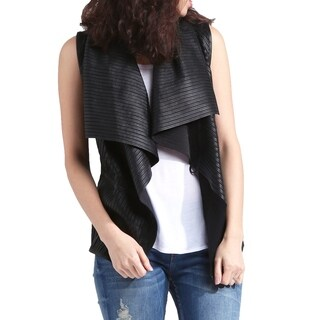 Genuine Lambskin Leather Waterfall Vest