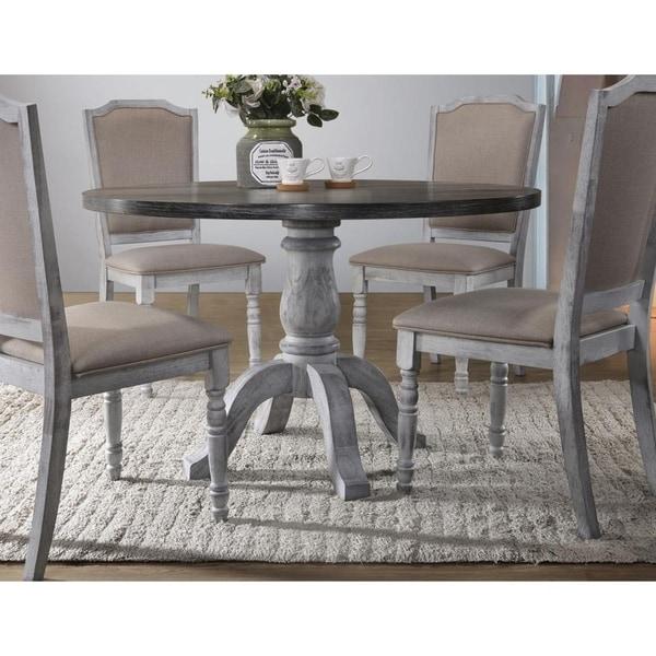 Shop Best Master Furniture Weathered Gray White Round