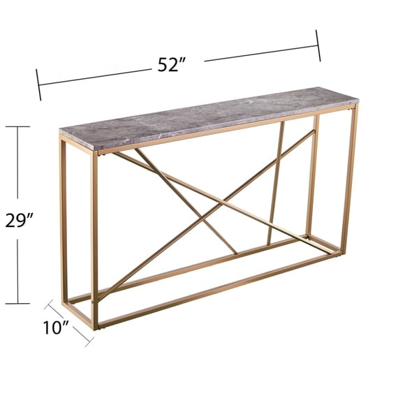 Strick & Bolton Sigrid Faux Marble Skinny Console Table