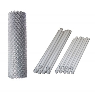 ALEKO Galvanized Steel Chain Link Fence 6X50 Feet Complete Kit