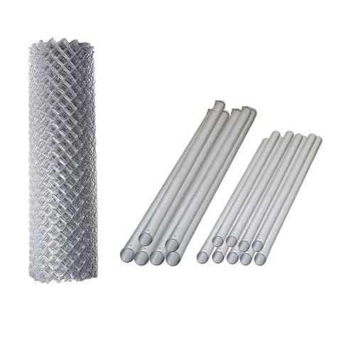 ALEKO Galvanized Steel Chain Link Fence 5X50 Feet Complete Kit