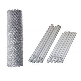 ALEKO Galvanized Steel Chain Link Fence 5X50 Feet Complete Kit