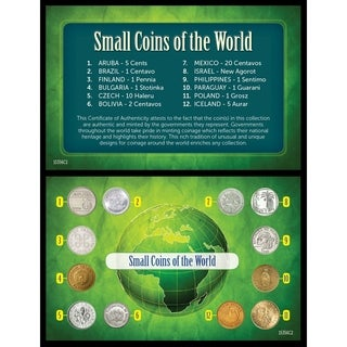 Small Coins Of The World Multi 6 X 4