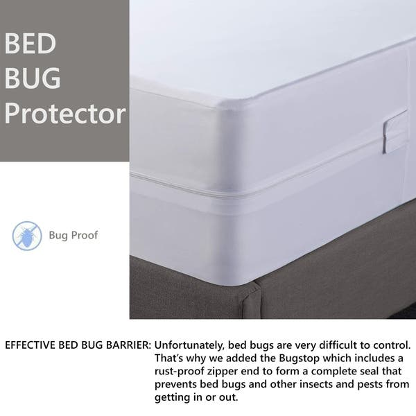 Shop Onetan Mattress Or Box Spring Protector Covers Bed Bug Proof Water Proof Fits Sleep 10 13 Inch Overstock 25445108