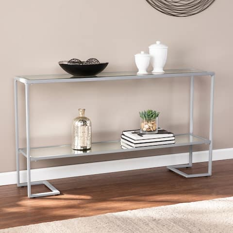 Porch & Den Sampson Black Glam Narrow Console Table