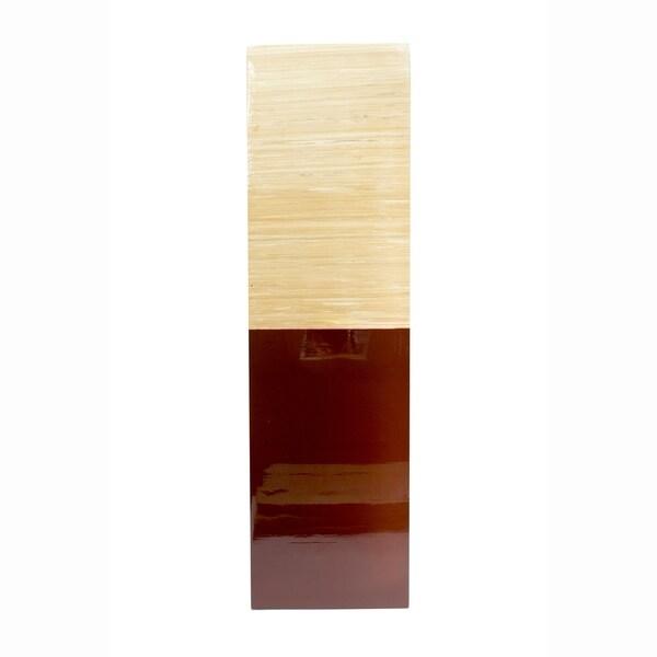 Shayna Square 2 Tone Solid Bamboo Vase