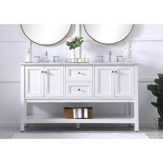 60 in. double sink bathroom vanity set