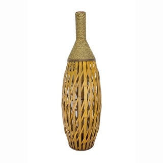 "Clayton 41"" Bamboo and Sea Grass Vase"