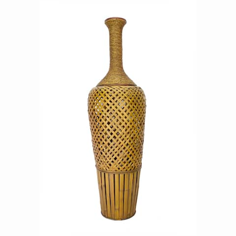 """Clayton 41"""" Bamboo and Sea Grass Vase"""