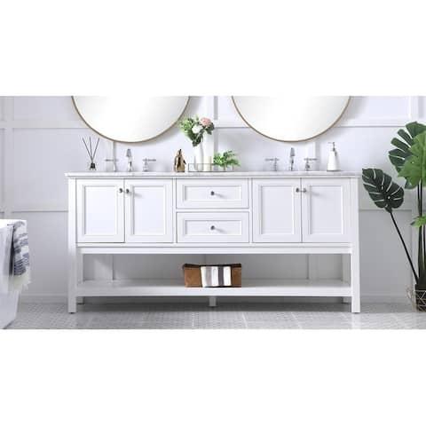 72 in. double sink bathroom vanity set