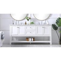 72 in. double sink bathroom vanity set