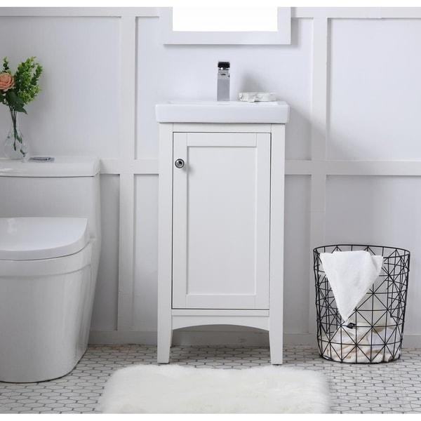 shop indigo home wood finish single 18 inch bathroom vanity set rh overstock com