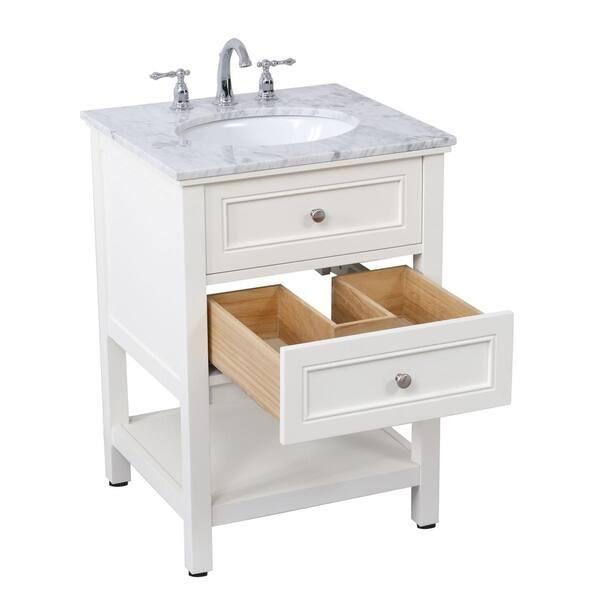 Shop 24 In Single Bathroom Vanity Set Free Shipping Today