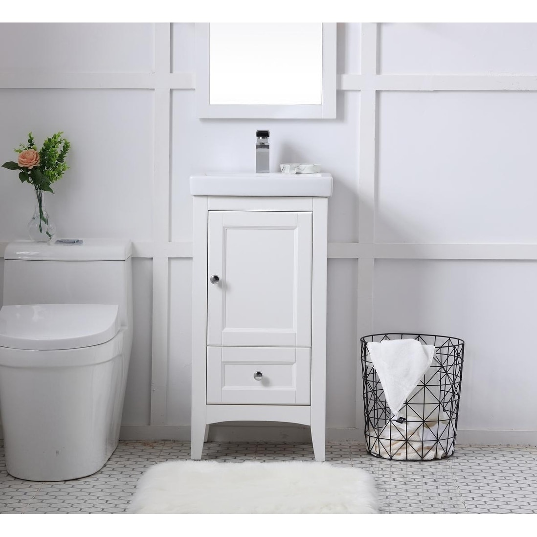 18 In Single Bathroom Vanity Set Overstock 25445240