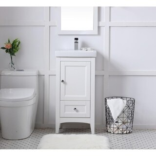 18 in. single bathroom vanity set