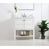 Indigo Home Wood Finish Single Bathroom Vanity Set