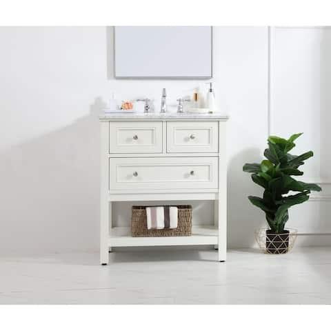 30 in. single bathroom vanity set