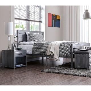 Carbon Loft Woolf Full Hand Brushed Silver 2-piece Platform Bed Set
