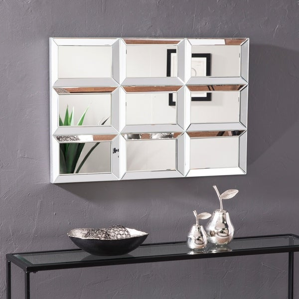 Silver Orchid Bech Decorative Mirror