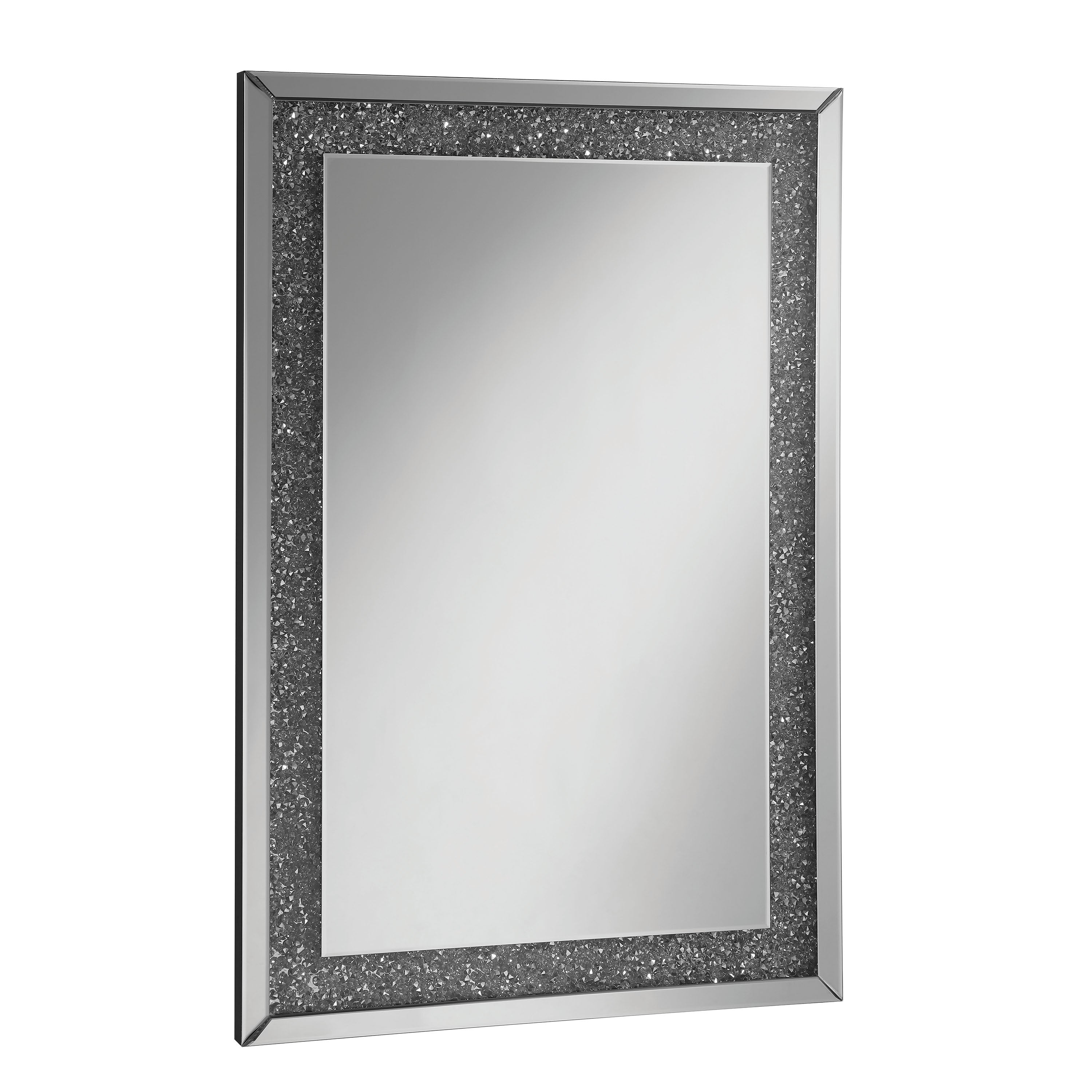 Furniture Of America Huck Silver 4 Piece Accent Table Set With Mirror Overstock 25445271