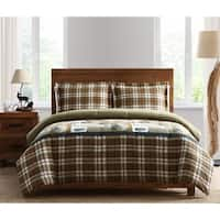 3-piece Plaid Comforter Set